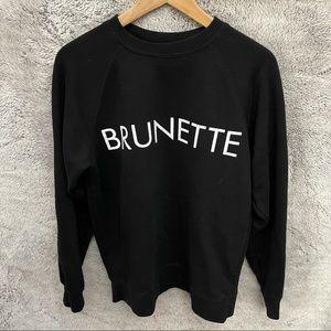 Brunette The Label Black Sweatshirt